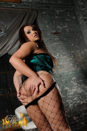 Big Ass BBW Shemale in Fishnets